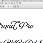 Hand-Lettering: Fonts For Beginners To Trace