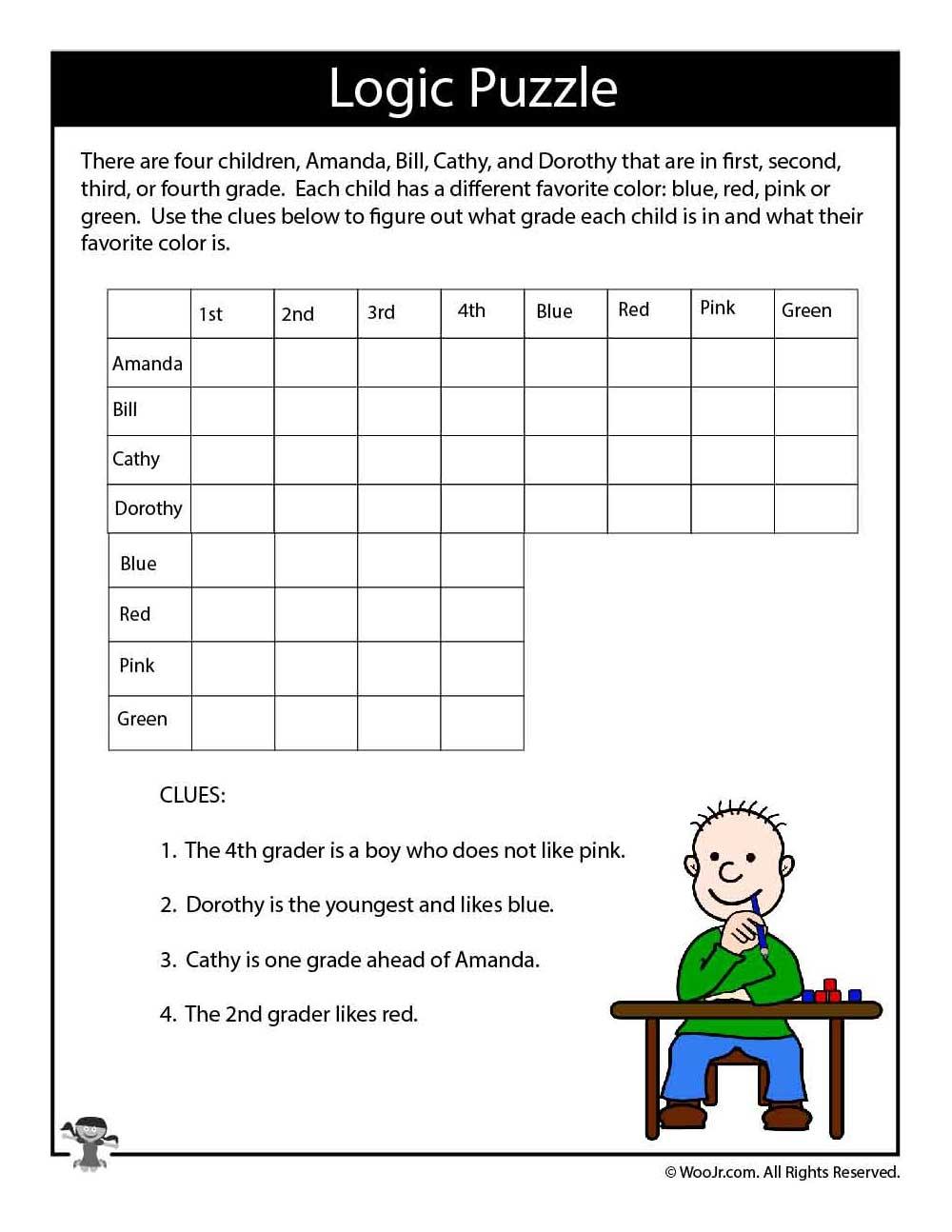 Hard Logic Puzzle For Kids | Woo! Jr. Kids Activities