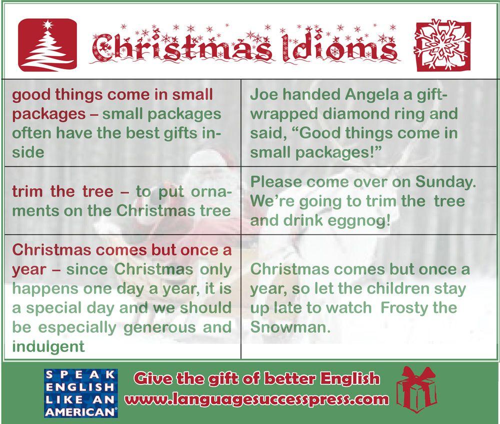 Ho Ho Ho! Idioms To Celebrate #christmas!   Christmas Words