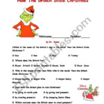 How The Grinch Stole Christma - Esl Worksheetajarnglyn