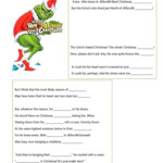 How The Grinch Stole Christmas Listening Worksheet - English
