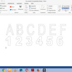 How To Make Dashed Letters And Number Tracing In Microsoft Word 2013 Using Wordart