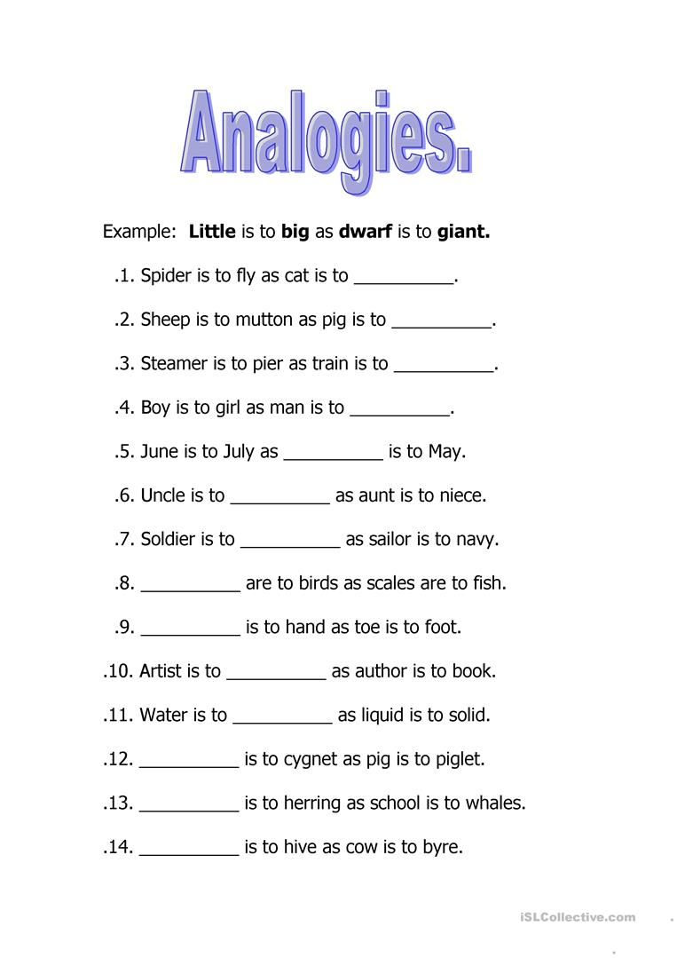 Image Result For Analogies Worksheet   Worksheets For Kids