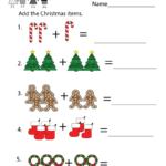 Kindergarten Christmas Math Worksheet Printable | Christmas