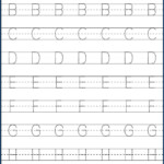 Kindergarten Letter Tracing Worksheets Pdf - Wallpaper Image
