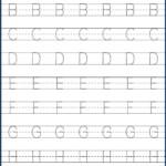 Kindergarten Letter Tracing Worksheets Pdf - Wallpaper Image