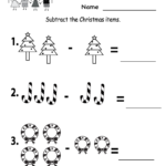 Kindergarten Worksheets Printable |  Subtraction