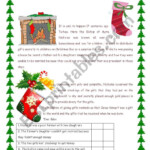 Legend Of Christmas Stockings - Esl Worksheetswissprof