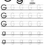 Letter G Tracing Worksheets Preschool | Alphabet Tracing