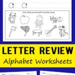 Letter Review Alphabet Worksheets | Totschooling - Toddler