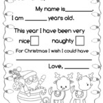 Letter To Santa Interactive Worksheet