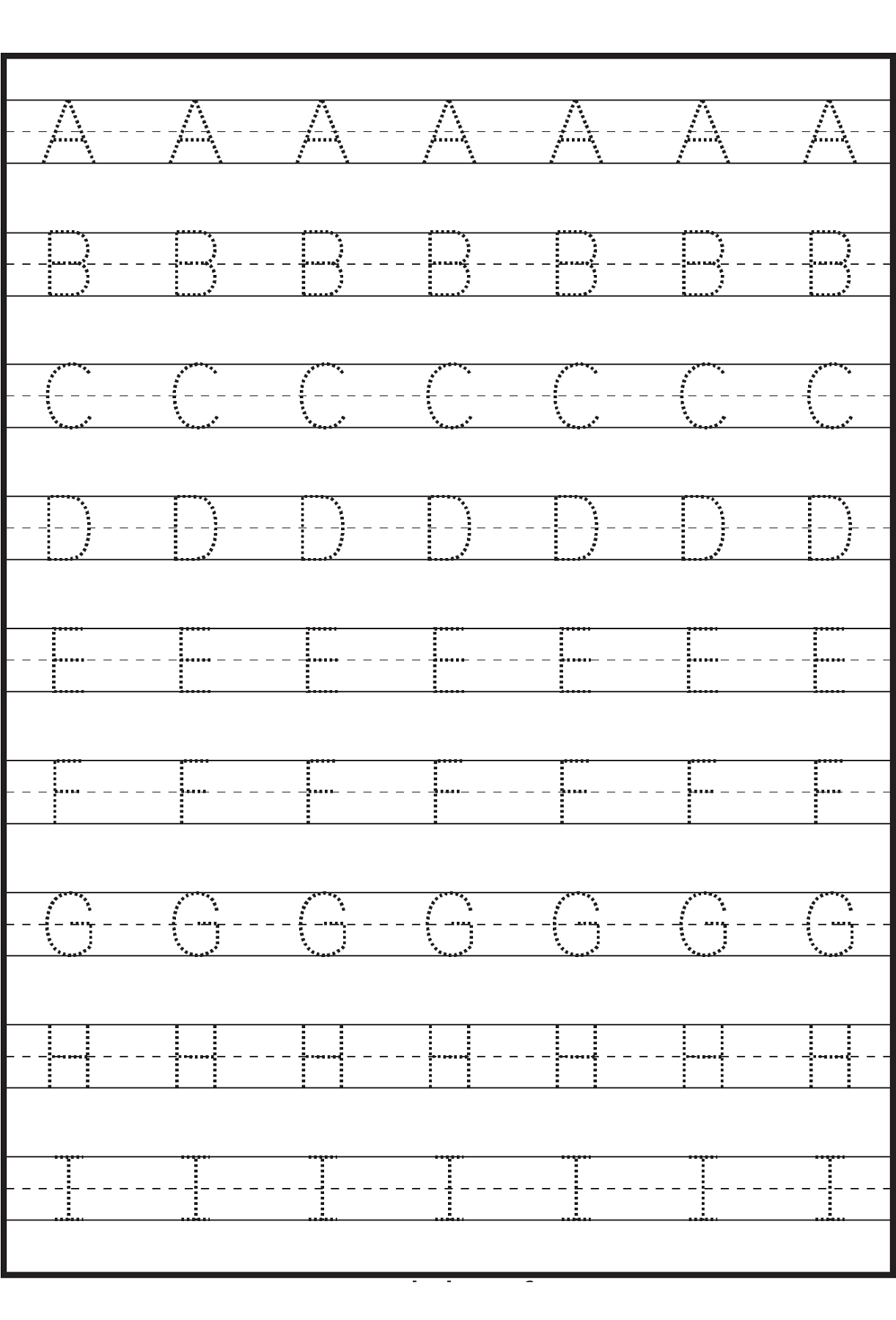 Letter Tracing Sheets Printable   Alphabet Tracing