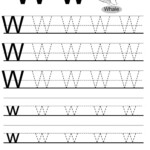 Letter W Tracing Worksheet, English Alphabet Worksheets