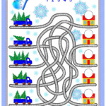Logic Puzzle Game For Children With Labyrinth. Count