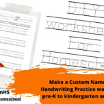 Make A Custom Name Tracing Handwriting Practice Worksheet For Pre-K To  Kindergarten And 1St Grade
