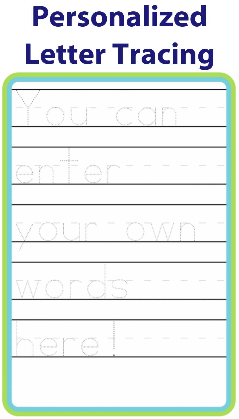 Make Your Own Handwriting Practice | Handwriting Practice