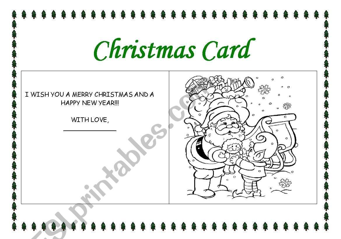 Making A Christmas Card 3 - Esl Worksheetrhuanna