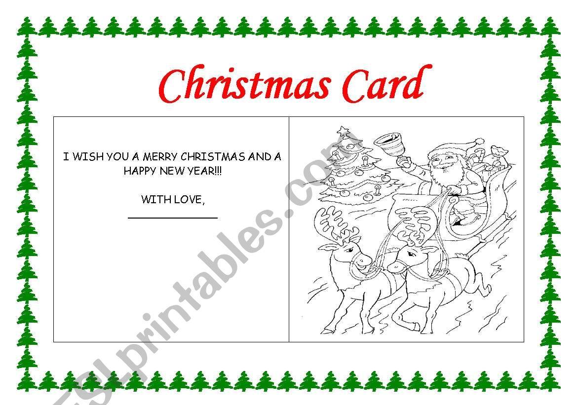 Making A Christmas Card - Esl Worksheetrhuanna