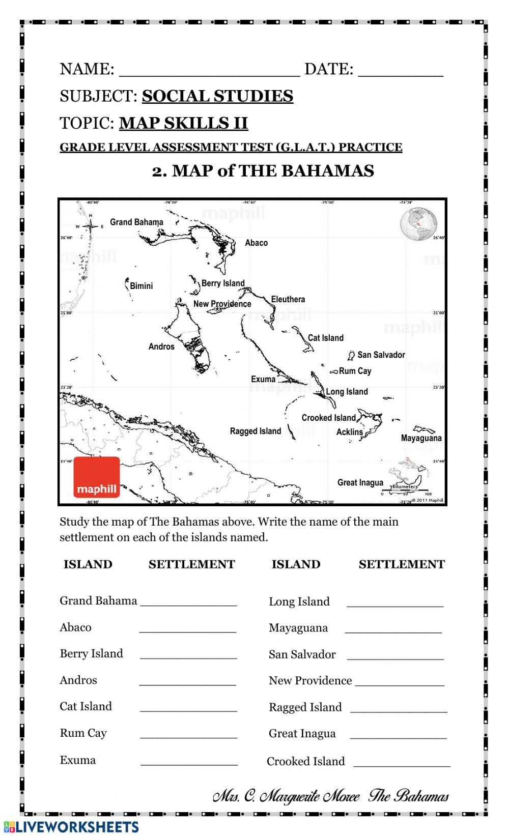 Map Skills Ii Worksheet