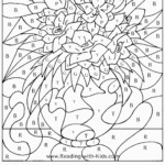 Math Worksheet ~ Christmas Colournumbers Addition Math
