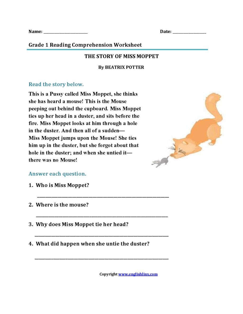 Math Worksheet ~ Christmas Comprehension Worksheets 5Th