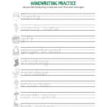 Math Worksheet ~ Christmas Handwriting 791X1024 Goodractice
