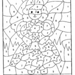 Math Worksheet ~ Christmas Math Coloring Pages Kindergarten
