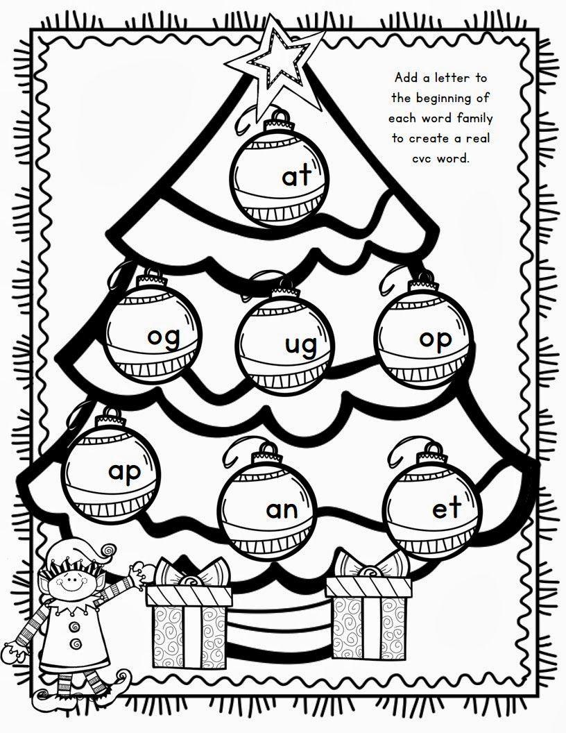 Math Worksheet ~ First Grade Christmas Worksheets Color