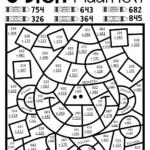 Math Worksheet ~ Free Colornumber Math Worksheets 4Th