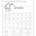 Math Worksheet ~ Letter S Tracing Worksheet Kindergarten