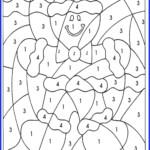 Math Worksheet : Multiplication Christmas Coloring