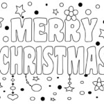 Merry Christmas Coloring Pages   Merry Christmas Coloring