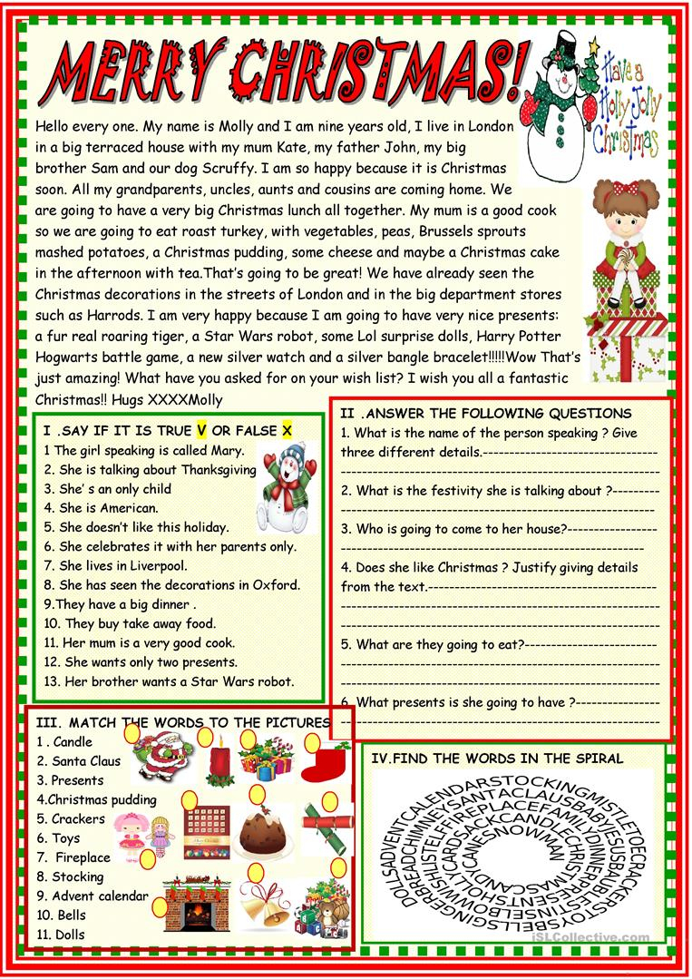 Merry Christmas: Multiple Activities Christmas Reading