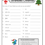 Merry Christmas Word Scramble Worksheet | Printable