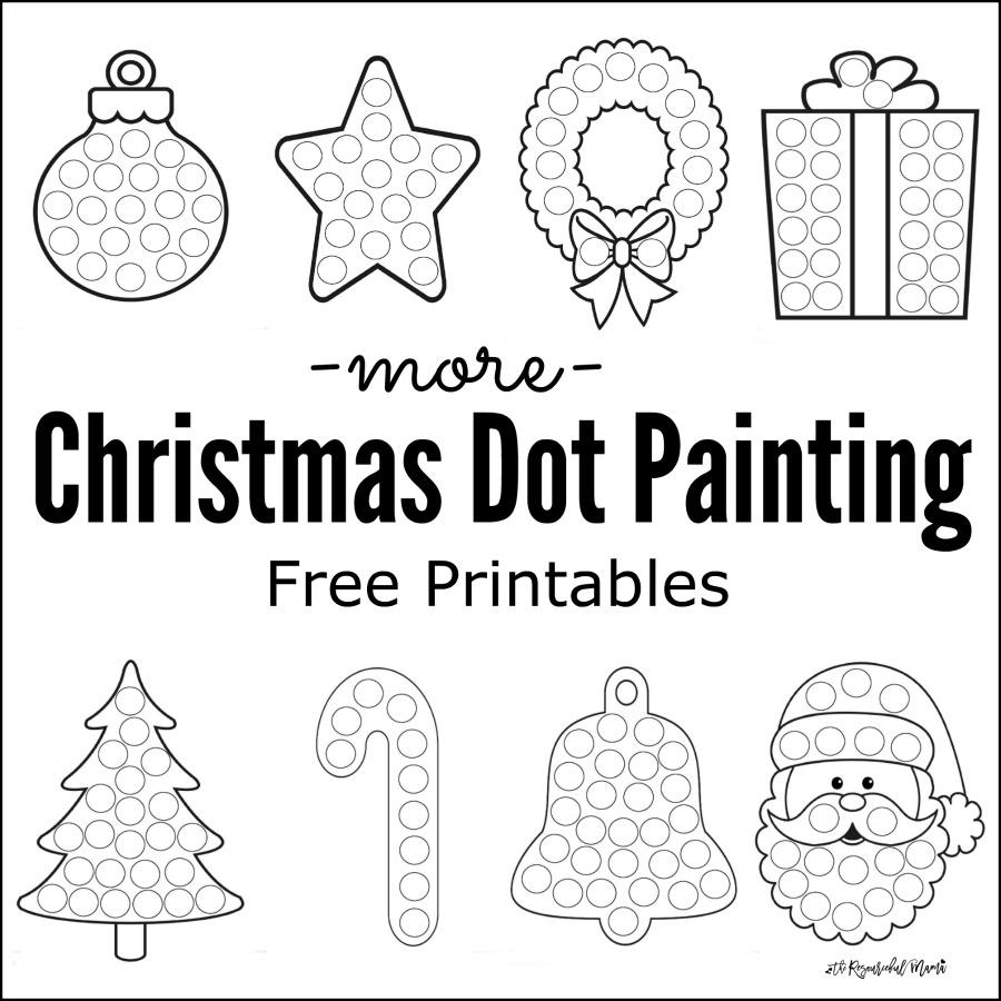 More Christmas Dot Painting {Free Printables} - The