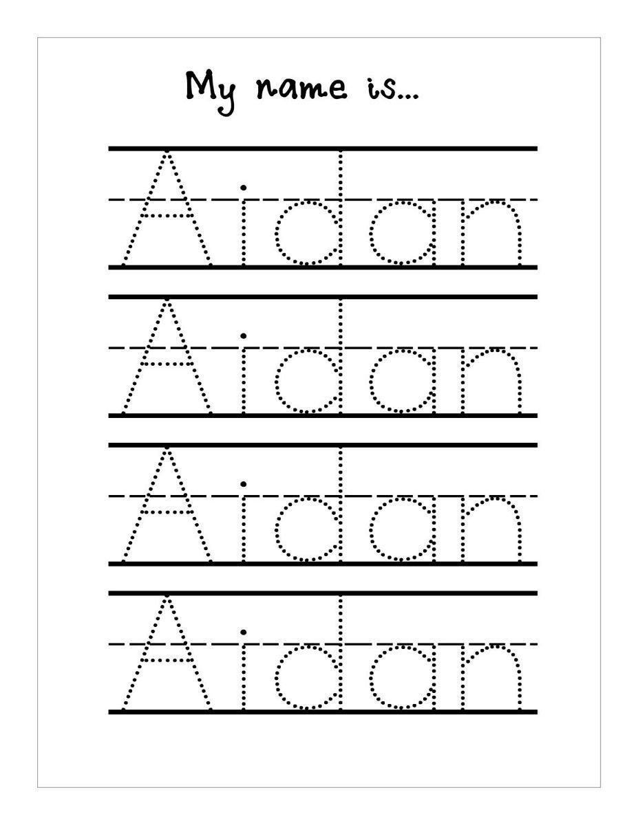 Name Handwriting Worksheets | Tracing Worksheets Preschool