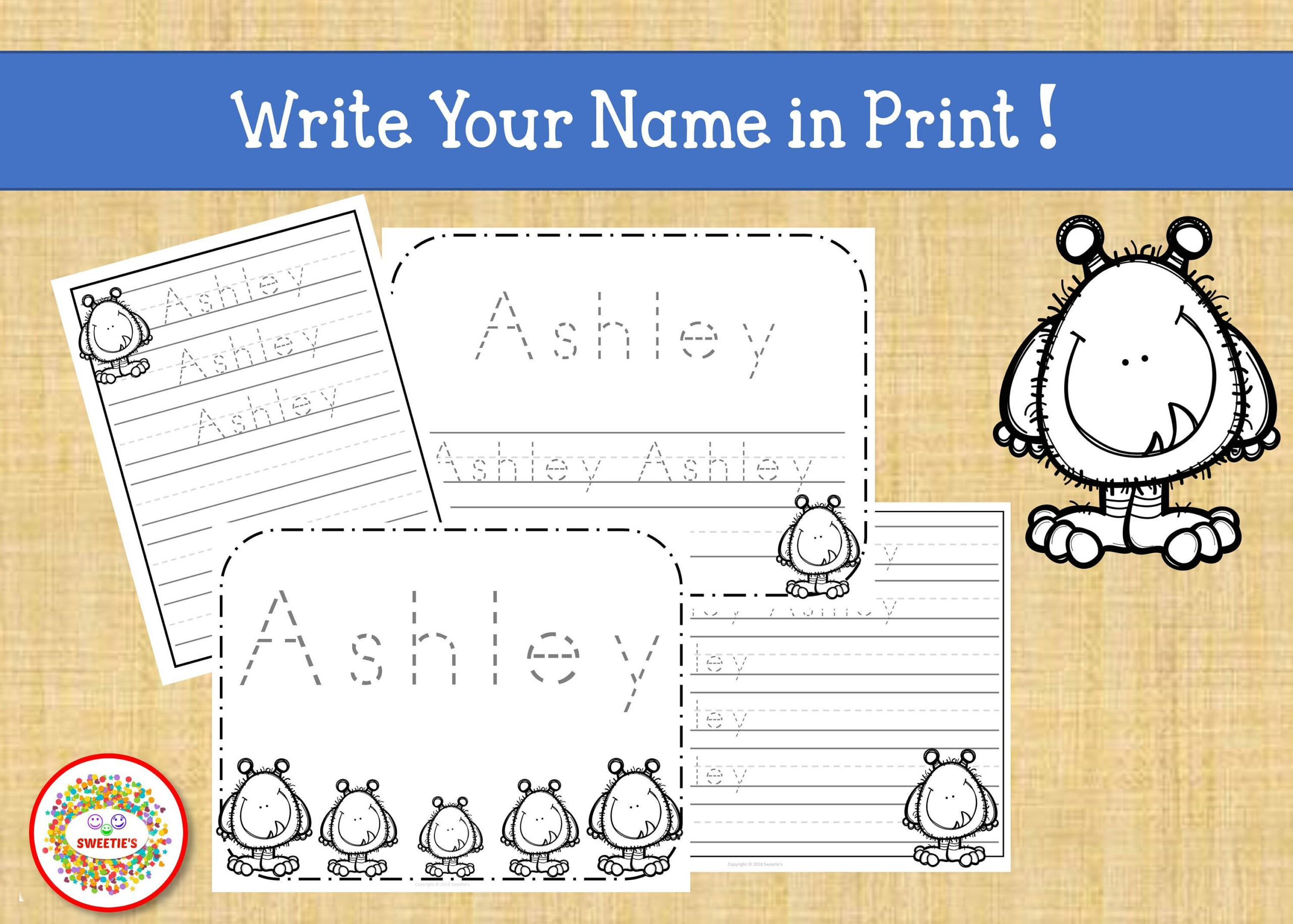 Name Tracing Handwriting Worksheet Personalized Name | Etsy
