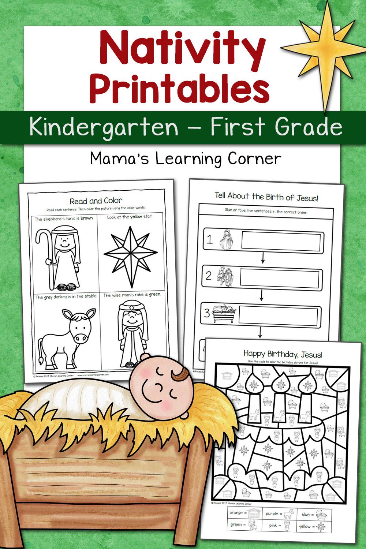 Nativity Worksheet Packet For Kindergarten And First Grade