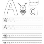 Outstanding Alphabet Tracing Worksheets For Kindergarten