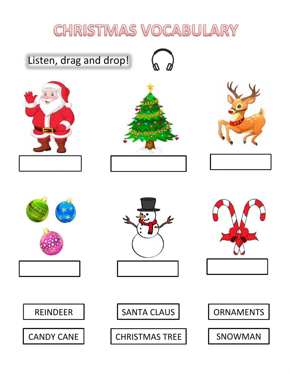 Pdf Online Exercise: Christmas Vocabulary