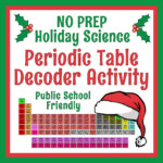 Periodic Table Holiday Christmas Science Worksheet Activity