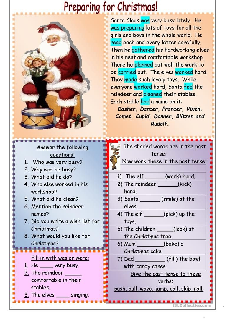 Preparing For Christmas Worksheet - Free Esl Printable