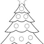Preschool Christmas Tree Coloring Page | Christmas Tree