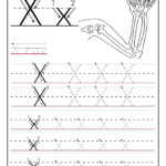 Preschool Letter X Tracing Worksheets (Page 1) - Line.17Qq