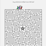 Print This Free Christmas Maze About Following The Star To