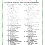 Printable Christmas Song Answers | Christmas Song Trivia
