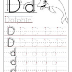 Printable Letter D Tracing Worksheets For Preschool