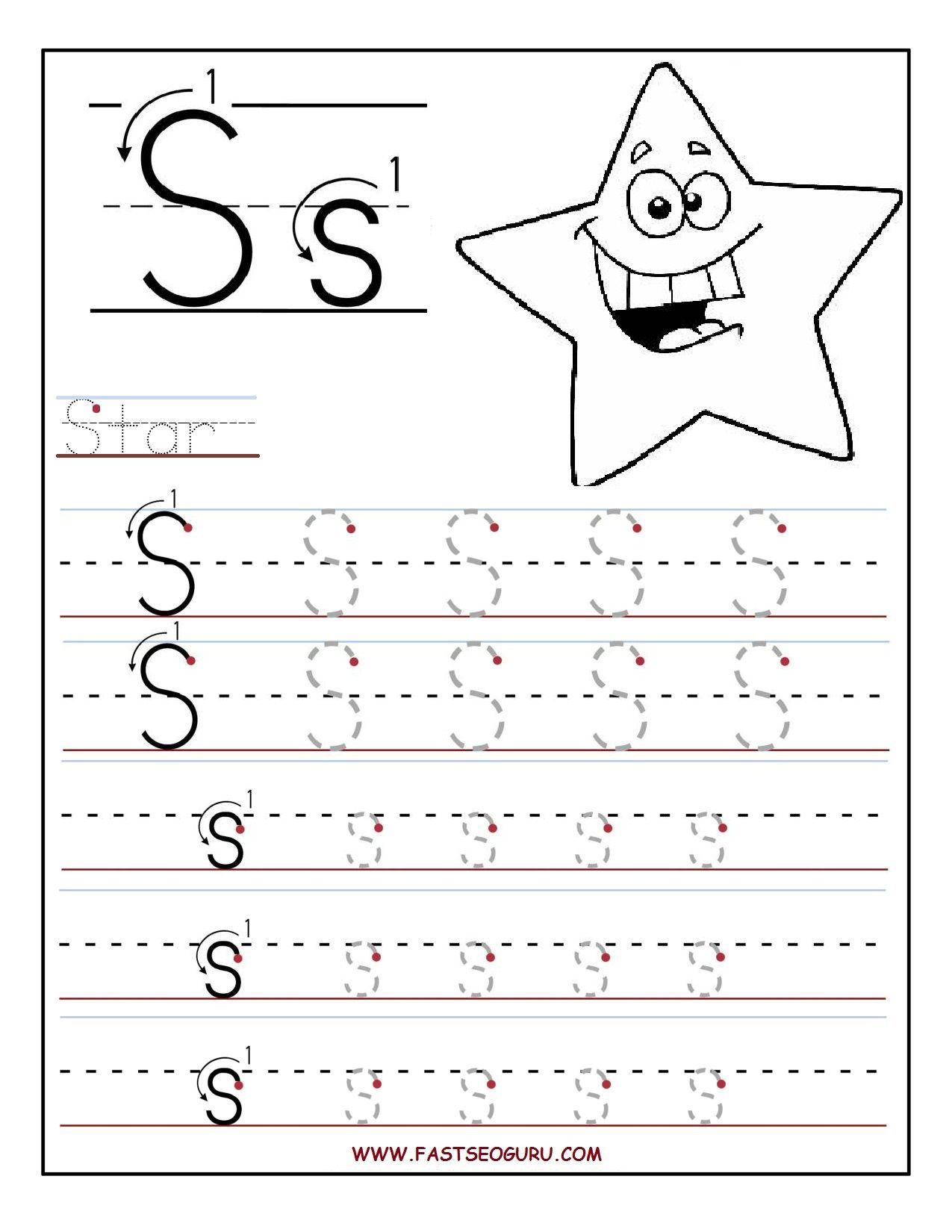 Printable Letter S Tracing Worksheets For Preschool