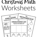Printable Math Christmas Preschool Worksheets