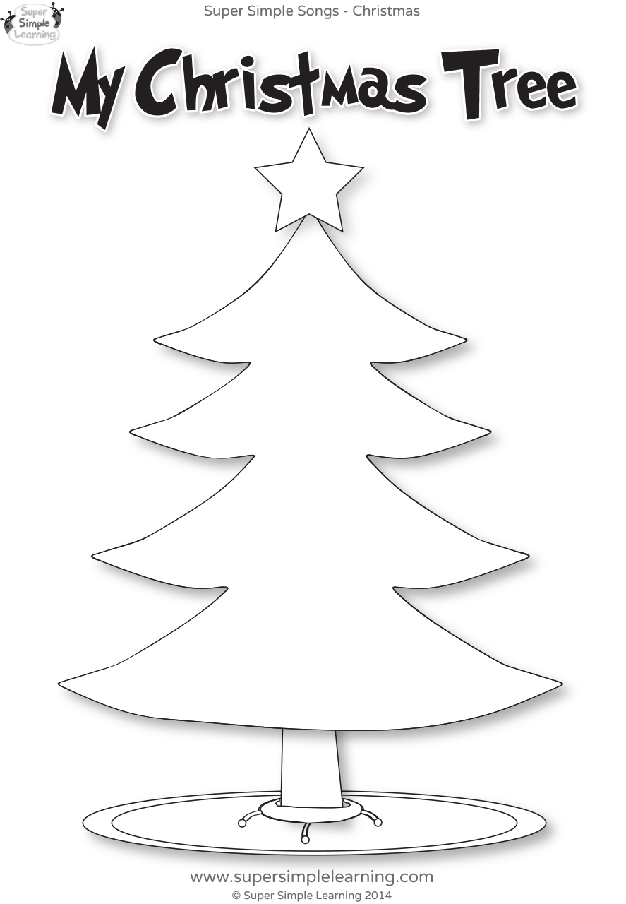 Santa, Where Are You? Worksheet - My Christmas Tree - Super